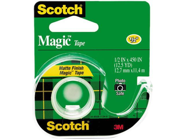 Scotch 104 Magic Office Tape w/Refillable Dispenser, 1/2' x 450', Clear photo