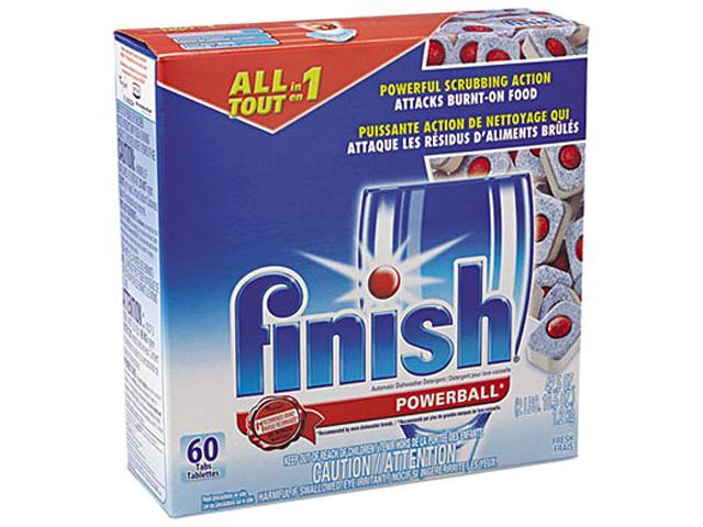 Reckitt Benckiser REC 81158 FINISH Powerball Dishwasher Tabs, Fresh Scent, 43.20 oz. Tabs photo