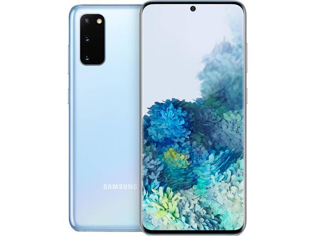 Samsung Galaxy S20 5G SM-G981ULBAXAA 5G Unlocked Cell Phone 6.2' Cloud Blue 128GB 12GB RAM