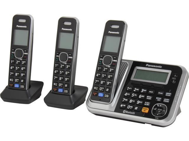 Panasonic KX-TG7873S 1.9 GHz DECT 6.0 Link to Cell via Bluetooth Cordless Phone with Integrated Answering Machine and 3 Handsets (885170106260 Electronics Communications Telephony Cordless Phones) photo