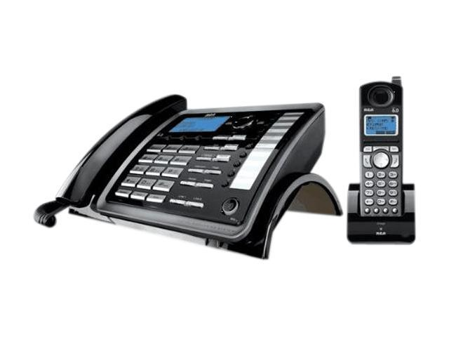 RCA 25255RE2 1X Handsets 2 Line Corded/Cordless Expandable Speakerphone Integrated Answering Machine (845679000018 Electronics Communications Telephony Cordless Phones) photo