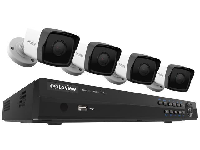 Laview 1080p Poe Ip Security Camera System 4 Hd 2mp Cameras With Matrix Ir Day Night View 8