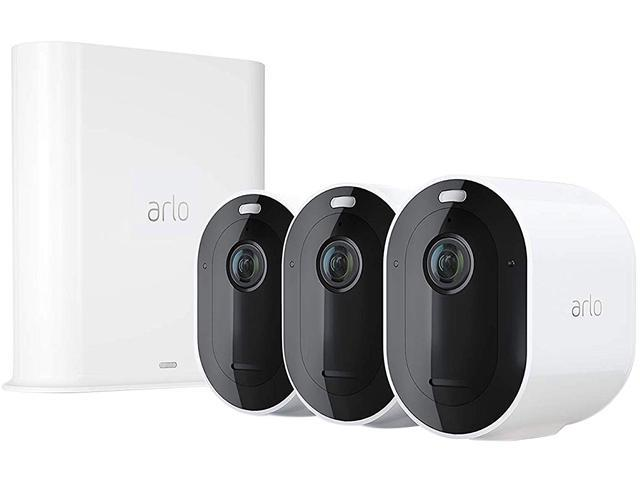 Arlo Pro 3 - Wire-Free Security 3 Camera System, 2K Resolution with HDR, 160?? View, Indoor/Outdoor, Color Night Vision, Spotlight, 2-Way Audio.