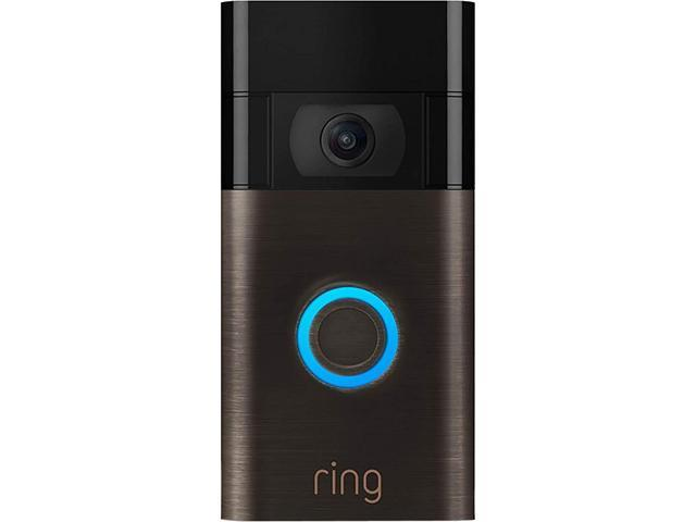 Ring Video Doorbell 2nd Gen, HD 1080P with 2-way Talk and Advanced Motion Detection, Built-in Rechargeable Battery or Connects to Existing Doorbell.