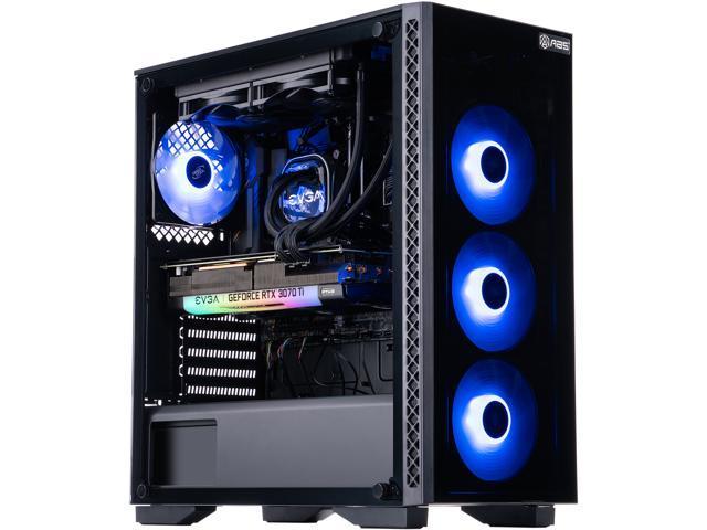 ABS Gladiator Gaming PC – Intel i7 10700F – EVGA GeForce RTX 3070 Ti FTW3 Ultra Gaming – 16GB DDR4 3000MHz – 1TB Intel 670P M.2 NVMe SSD – EVGA CLC 120MM AIO