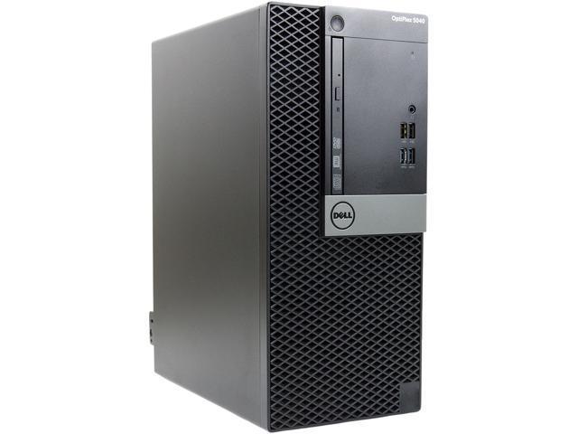 Recertified - DELL Grade A Desktop Computer 5040-T Intel Core i7 6th Gen 6700 (3.40 GHz) 16 GB DDR4 1 TB SSD Windows 10 Pro 64-bit