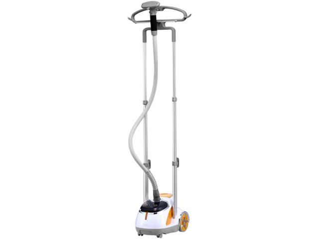 SALAV GS45-DJ Professional Series Dual Bar Garment Steamer with Foot Pedals, Orange photo