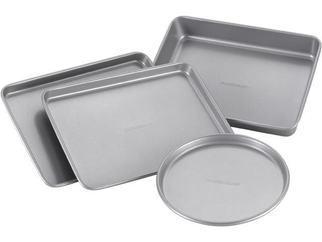 Farberware Nonstick Bakeware 57775 4-Piece Toaster Oven Set, Gray photo