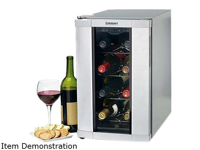 Cuisinart 8 Bottle Private Reserve Wine Cellar, Silver CWC-800 photo