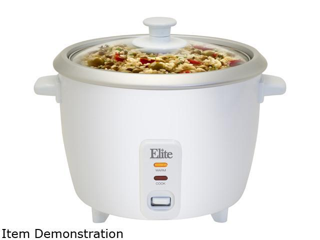 Elite ERC-003ST 6 Cup Rice Cooker with Steam Tray photo