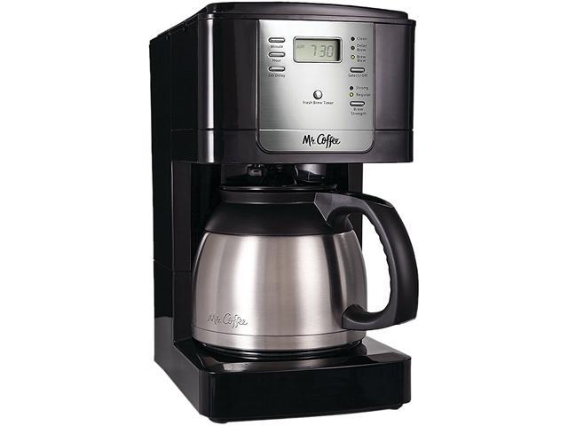 MR. COFFEE JWTX85-RB Black Advanced Brew 8-Cup Programmable Coffee Maker with Thermal Carafe Black/Chrome photo