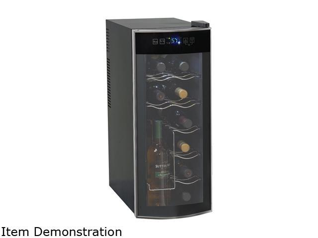 Avanti EWC1201 12-Bottle Thermoelectric Counter Top Wine Cooler, Platinum/Black photo