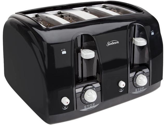 Sunbeam Extra Wide Slot 4-Slice Toaster, Black (3911100000) photo