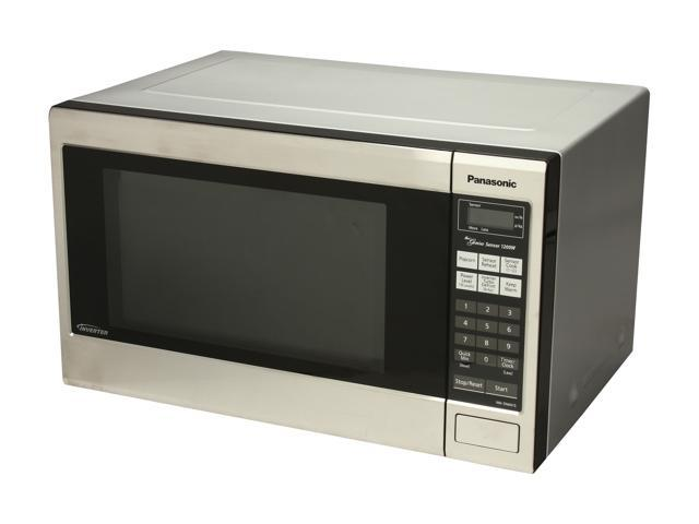 Panasonic Family Size 1.2 Cu. Ft. Genius Countertop/Built-In Microwave Oven with Inverter Technology NN-SN661S photo