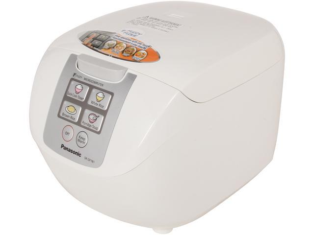 Panasonic SR-DF181 White Microcomputer Controlled / Fuzzy Logic Rice Cooker with One Touch Cooking photo