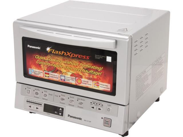 Panasonic NB-G110P FlashXpress Toaster Oven with Double Infrared Heating, Silver photo