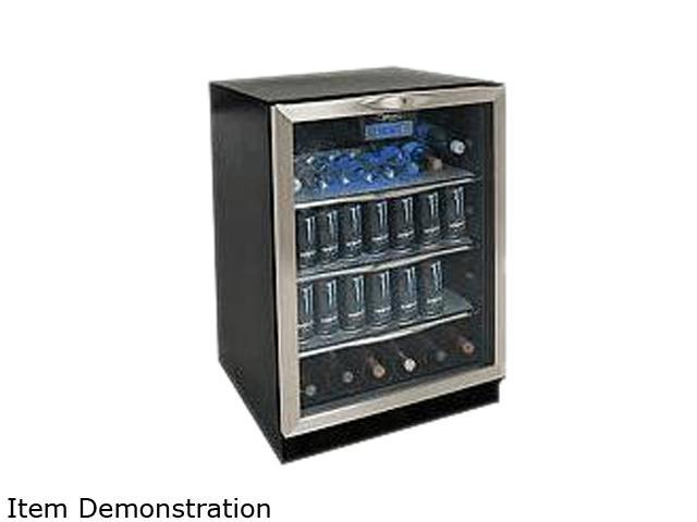 Danby Silhouette DBC514BLS 112-Can and 11-Wine Bottle Beverage Center with LED Display, Black/Stainless Steel photo