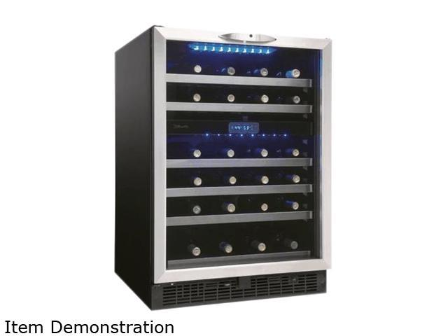 Danby DWC518BLS 5.1 Cu. Ft. 51-Bottle Silhouette Wine Cellar, Black/Stainless photo