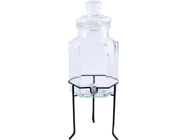 Gibson 69803.03 Home Antiqua Bay 1.3GL Glass Beverage Dispenser Set with Wire Stand photo