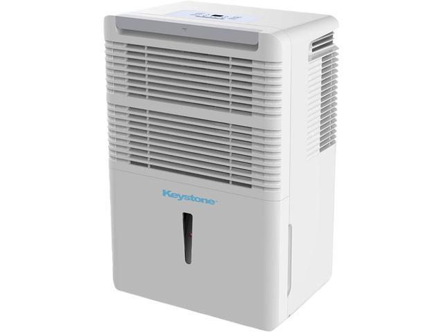 Keystone High Efficiency 50-Pint Dehumidifier with Electronic Controls, White KSTAD50B photo