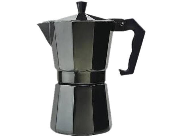 Primula PEBK-3306 Aluminum 6 Cup Stovetop Espresso Maker - Black Black photo