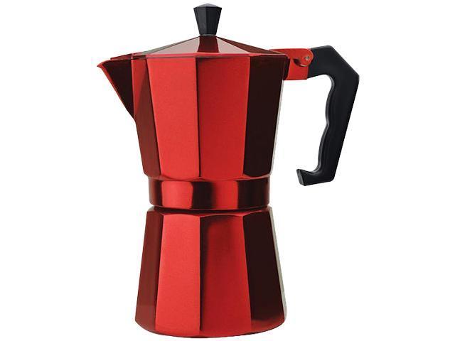Primula PERE-3306 Aluminum 6 Cup Stovetop Espresso Maker - Red Red photo