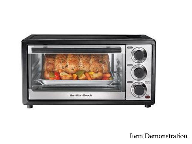 Hamilton Beach 31508 Black 6 Slice Capacity Toaster Oven photo