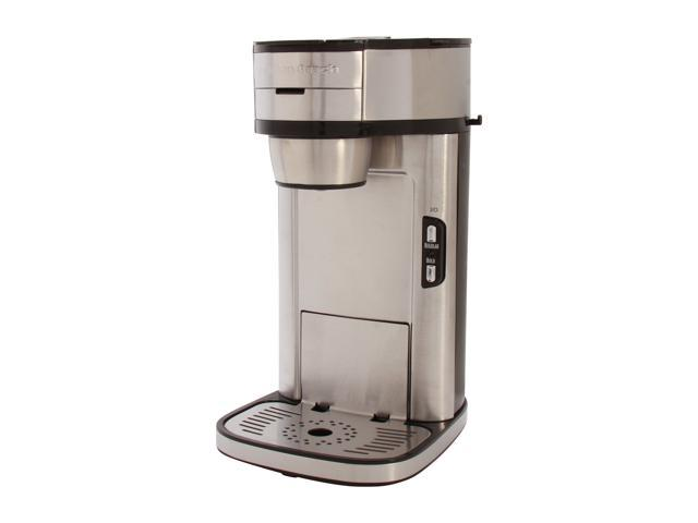 Hamilton Beach The Scoop Single Serve Coffee Maker, Stainless Steel 49981 photo
