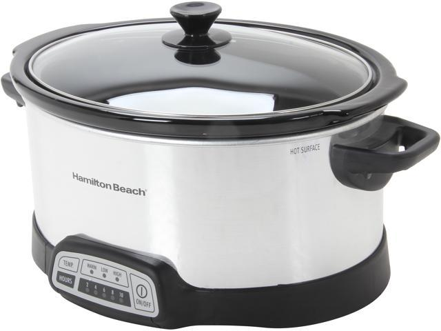 Hamilton Beach 33463 Stainless Steel Programmable 6 Quart Slow Cooker photo