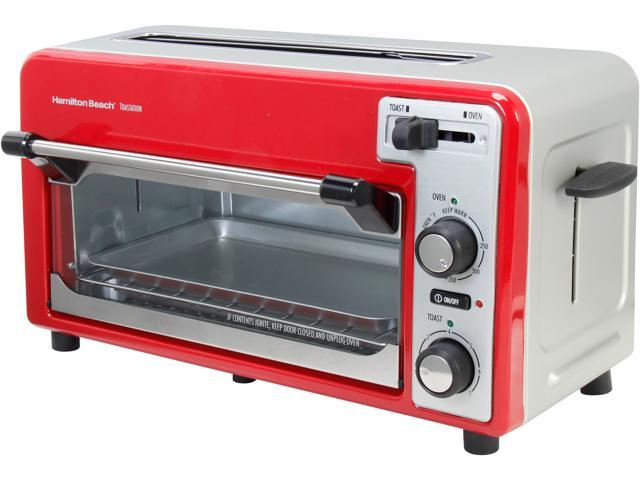 Hamilton Beach 22722 Red/Silver 2-Slice Toaster and Oven photo