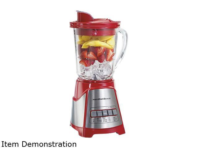 Hamilton Beach 58147 Multi-Function Blender with Mess-free 40oz Glass Jar, Red photo