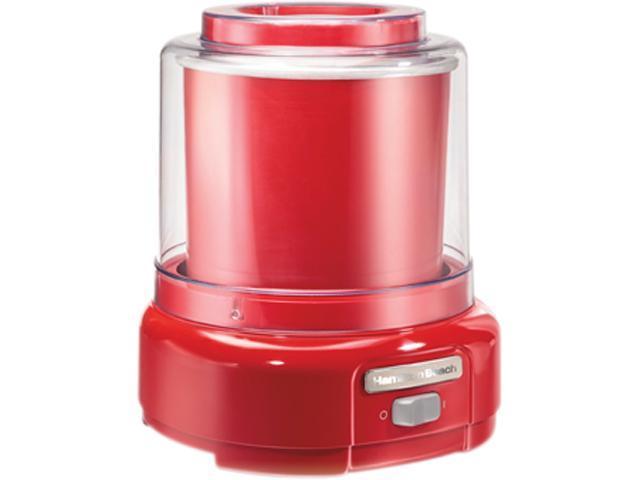 Hamilton Beach 68881 1.5 Quart Ice Cream Mixer, Red photo