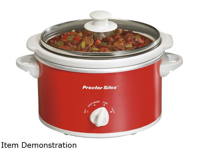 Proctor Silex 33111Y Red 1.5 Quart Oval Slow Cooker, Red photo