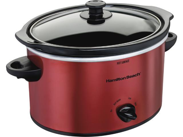 Hamilton Beach 33230 Red 3 Quart Slow Cooker photo