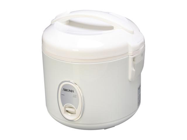 AROMA ARC-914S 8-Cup (Cooked) Cool-Touch Rice Cooker and Food Steamer, White photo