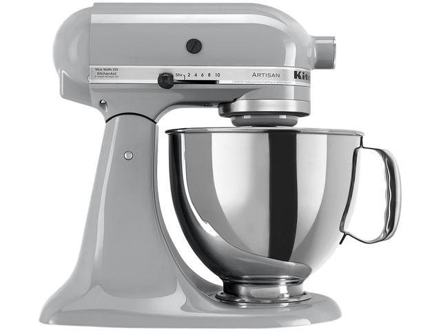 KitchenAid KSM150PSMC Artisan Stand Mixer with Pouring Shield, 5 Quarts, Metallic Chrome photo