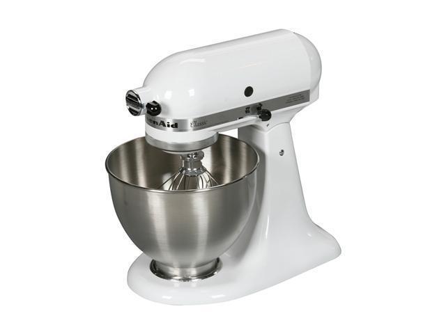 KitchenAid K45SSWH Tilt-Head Stand Mixer White photo