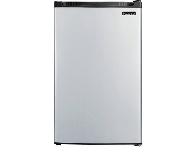 Magic Chef MCBR440S2 4.4 Cu Ft Refrigerator Push Defrost, Stainless VCM photo