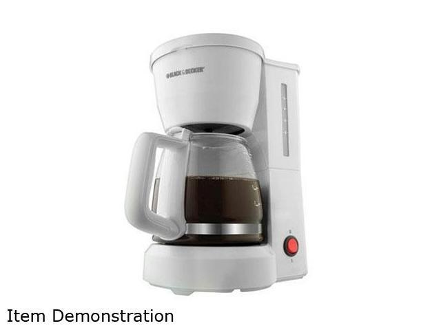 Black & Decker DCM600W White 5-Cup Drip Coffee Maker with Glass Carafe photo