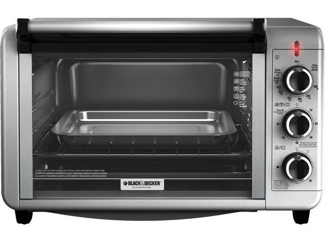 Black and Decker 6 Slice Countertop Convection Toaster Oven, Silver TO3210SSD photo
