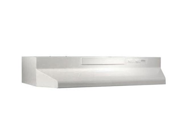 Broan F403611 36' Convertible Range Hood, White-on-White photo