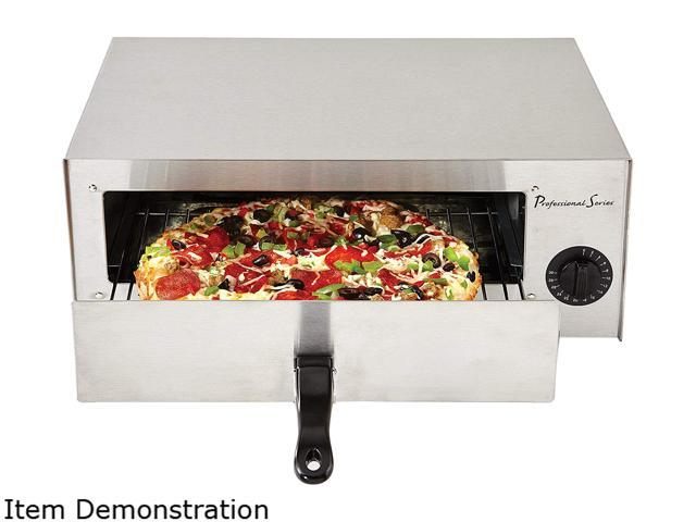 Continental Electric PS75891 Stainless Steel Pizza Oven Baker and Frozen Snack Oven photo