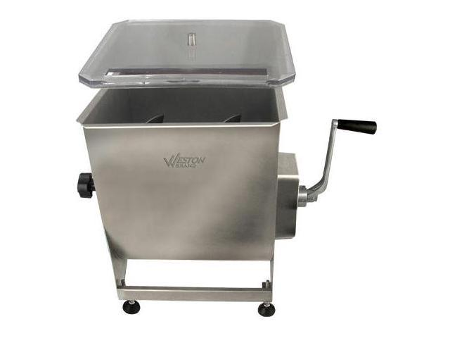 Weston Professional Series Stainless Steel 44Lbs Manual Meat Mixer 36-2001-W photo