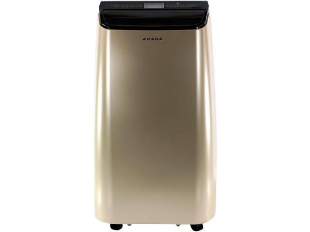 Amana 12,000 BTU Portable Air Conditioner with Remote Control, Gold/Black AMAP121AD photo
