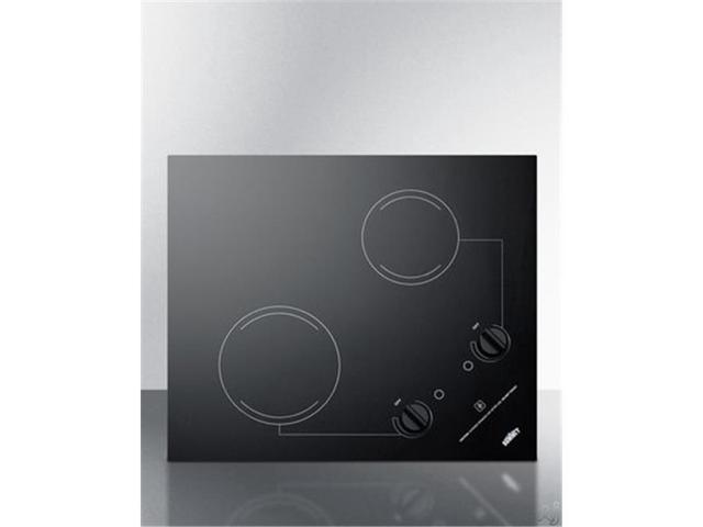 Summit Appliance CR2B223G 230 V Smooth 2 Burner Cooktop with Dual Mount Option photo
