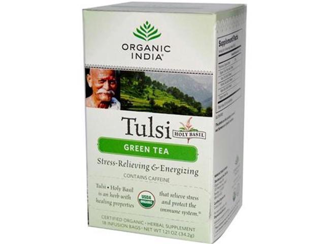 Organic India 38287-3pack India Green Tulsi Tea - 3x18 ct photo