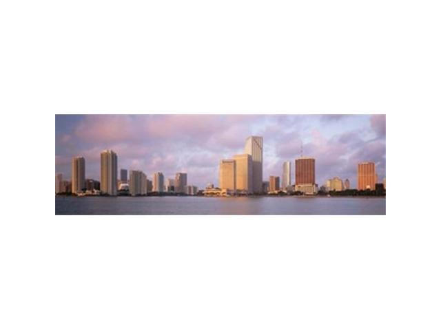 Panoramic Images PPI83818L Waterfront And Skyline At Dusk Miami Florida USA Poster Print by Panoramic Images - 36 x 12 (Arts & Entertainment Artwork) photo