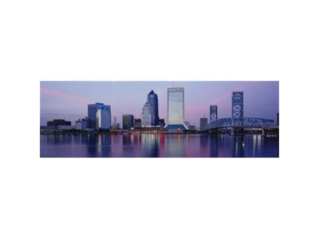 Panoramic Images PPI72982L Skyscrapers On The Waterfront St. Johns River Jacksonville Florida USA Poster Print by Panoramic Images - 36 x 12 (Arts & Entertainment Artwork) photo