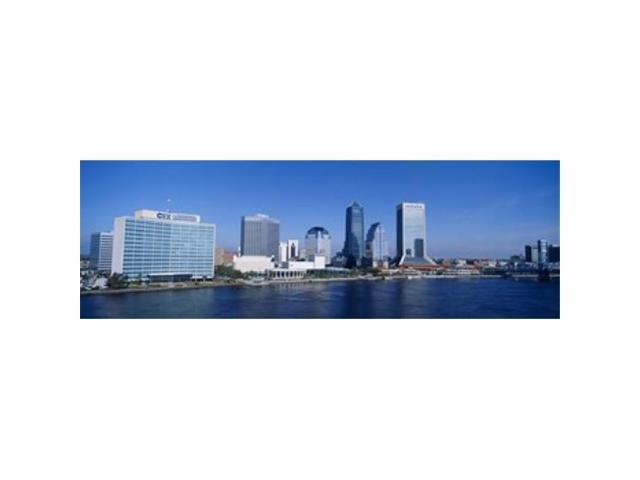 Panoramic Images PPI76497L Buildings at the waterfront St. Johns River Jacksonville Florida USA Poster Print by Panoramic Images - 36 x 12 (Arts & Entertainment Artwork) photo