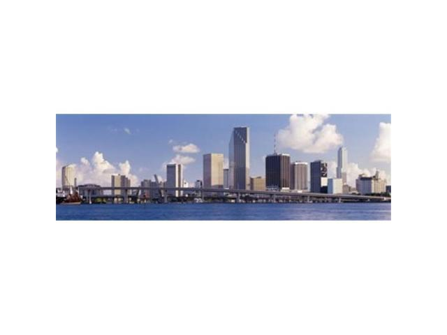 Panoramic Images PPI62424L Buildings at the waterfront Miami Florida USA Poster Print by Panoramic Images - 36 x 12 (Arts & Entertainment Artwork) photo